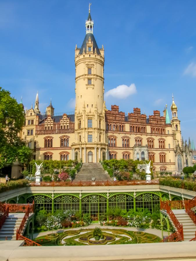 Schwerin Palace in northern Germany. royalty free stock photography