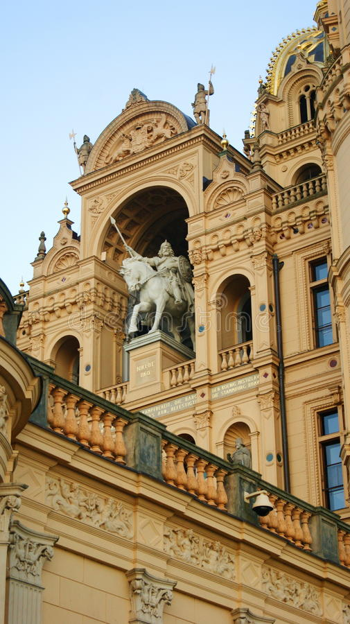 Schwerin Palace stock photography