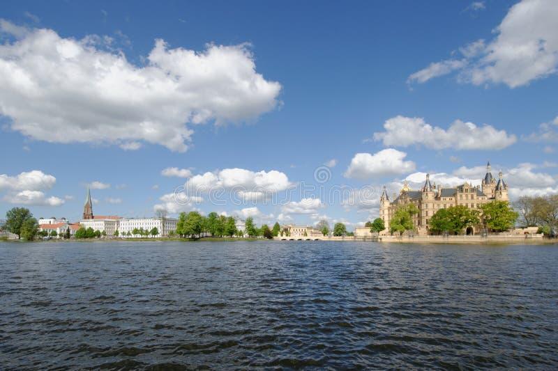 Schwerin panorama zdjęcia royalty free