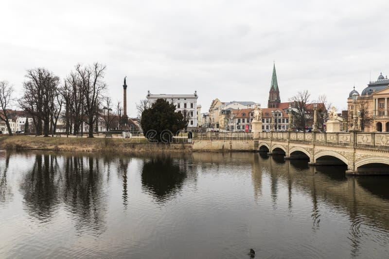 Schwerin Stary miasteczko, Niemcy zdjęcie royalty free
