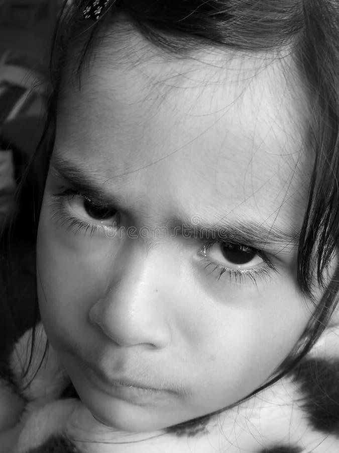 Schwermütiges Mädchen lizenzfreies stockfoto