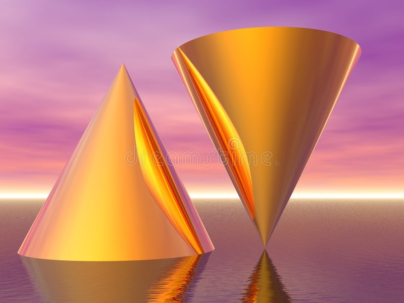 Schwerpunkt und Ausrichtung vektor abbildung