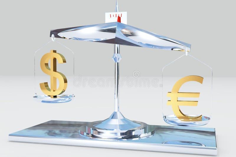 Schwerpunktgeld stock abbildung