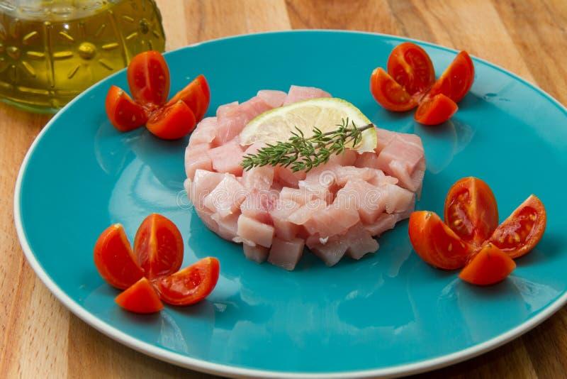 Schwertfische tartare lizenzfreies stockfoto