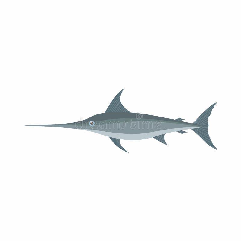 Schwertfischikone, Karikaturart stock abbildung