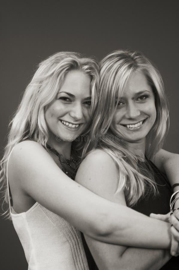 Schwestern (getont/Glühen) lizenzfreies stockfoto