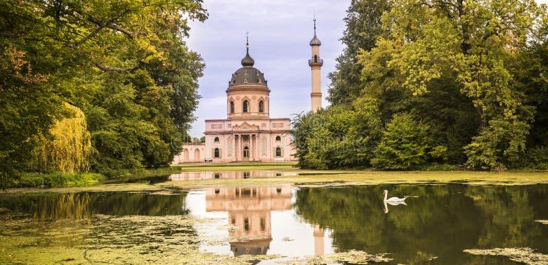 Schwetzingen, Baden Wuerttemberg, Niemcy, 10 09 2018 Meczet wewnątrz obraz stock
