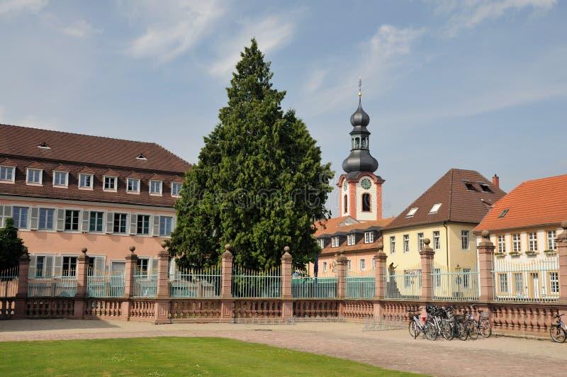 schwetzingen de l'Allemagne de château photo stock