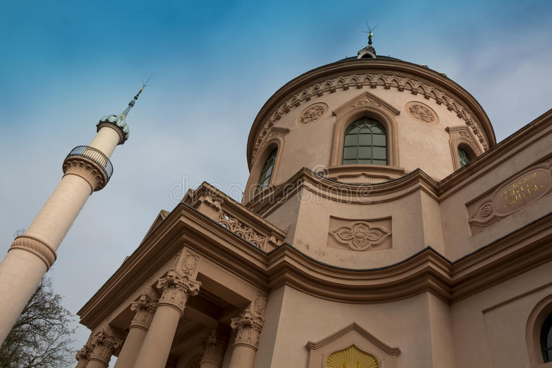 Schwetzingen meczet w Baden-WÃ ¼ rttemberg fotografia royalty free