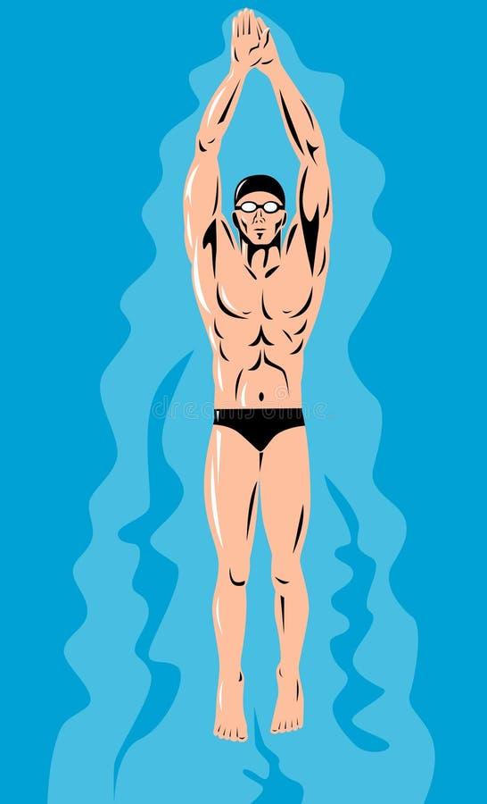 Schwimmen stock abbildung