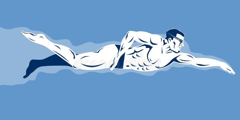 Schwimmen lizenzfreie abbildung