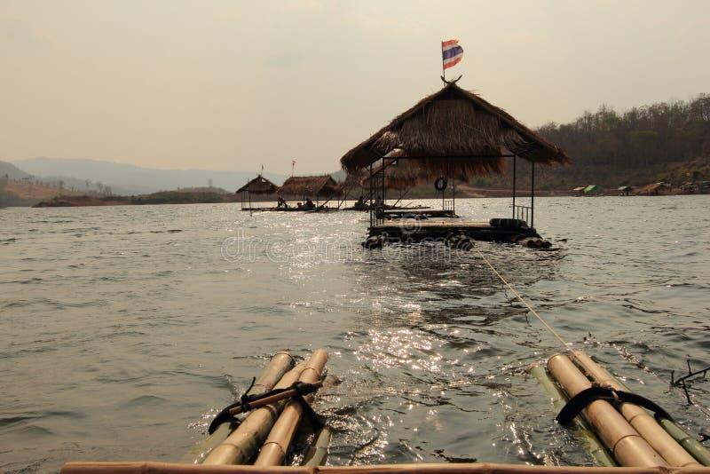 Schwimmen auf den See stockfotografie
