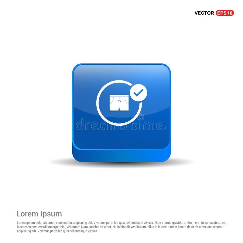 Schwimmen-Stamm-Ikone - Knopf des Blau-3d stock abbildung