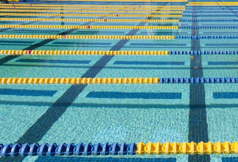 Schwimmen-Weg-Markierung stockbilder