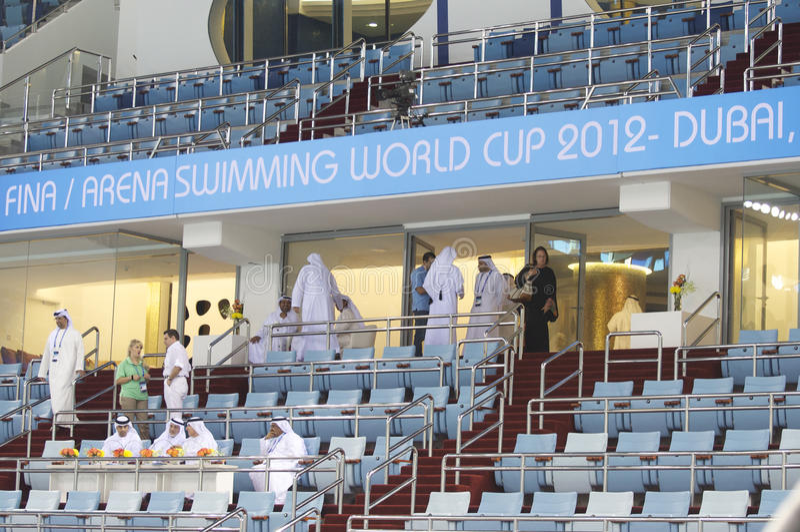 Schwimmen-Weltcupmeisterschaft 2012 Dubai-Fina lizenzfreie stockfotografie