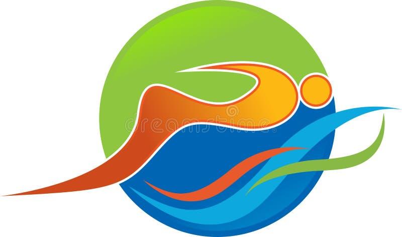 Schwimmenlogo lizenzfreie abbildung