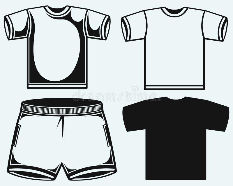 Schwimmenstämme und T-Shirt vektor abbildung