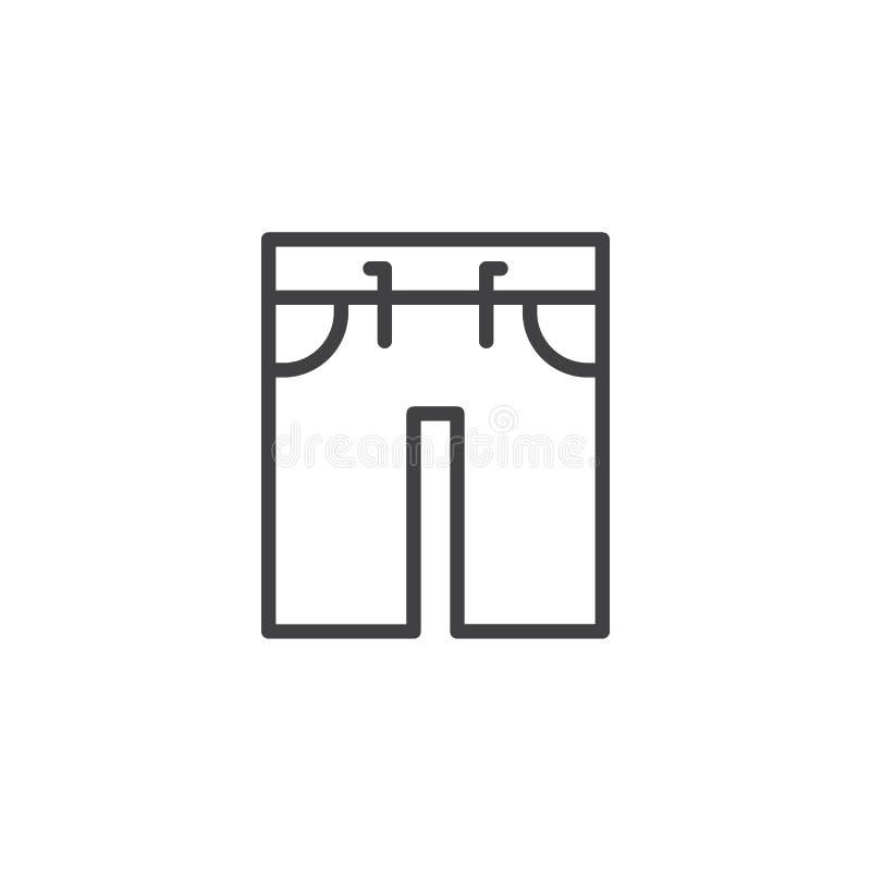 Schwimmenstamm-Entwurfsikone vektor abbildung
