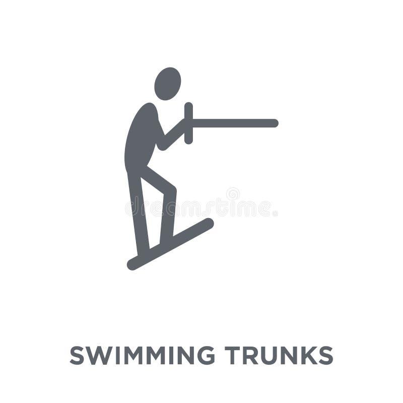 Schwimmenstammikone von der Sommerkollektion vektor abbildung