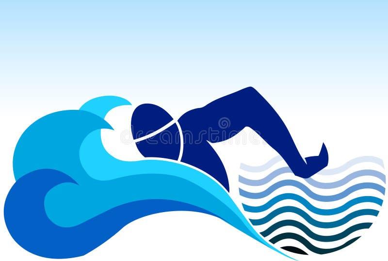 Schwimmenzeichen lizenzfreie abbildung