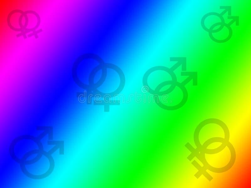 Schwule und Lesben-Regenbogen-Hintergrund lizenzfreies stockfoto