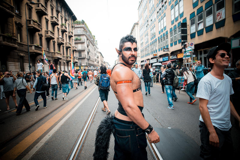 Schwulenparade in Mailand im Juni, 29 2013 stockfotografie