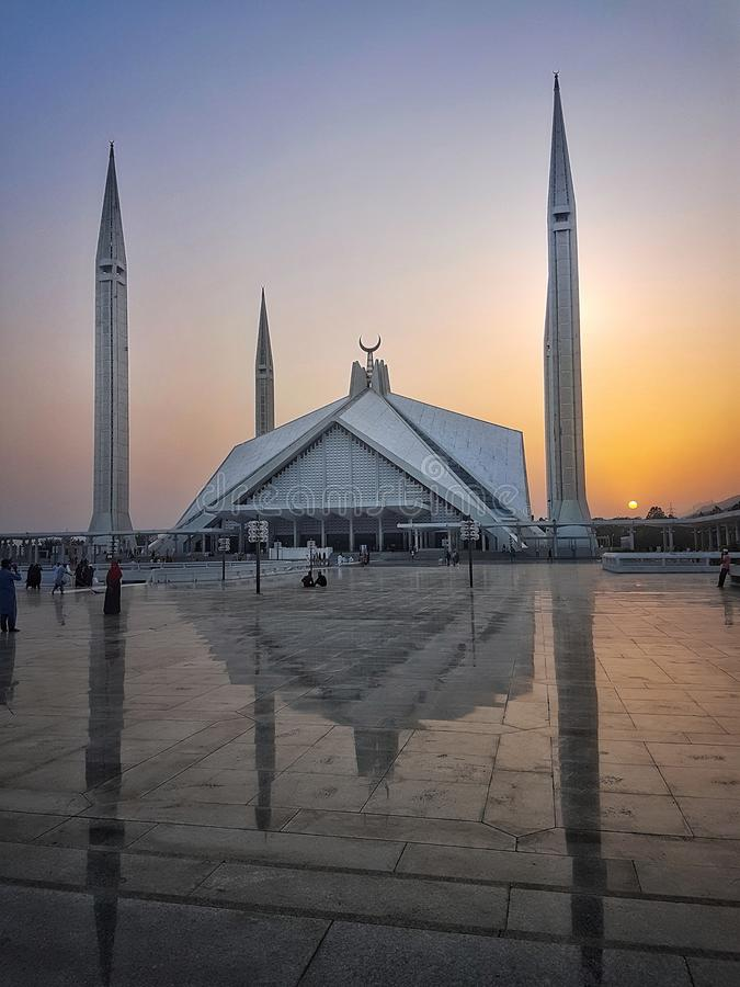 Scià Faisal Masjid fotografia stock libera da diritti