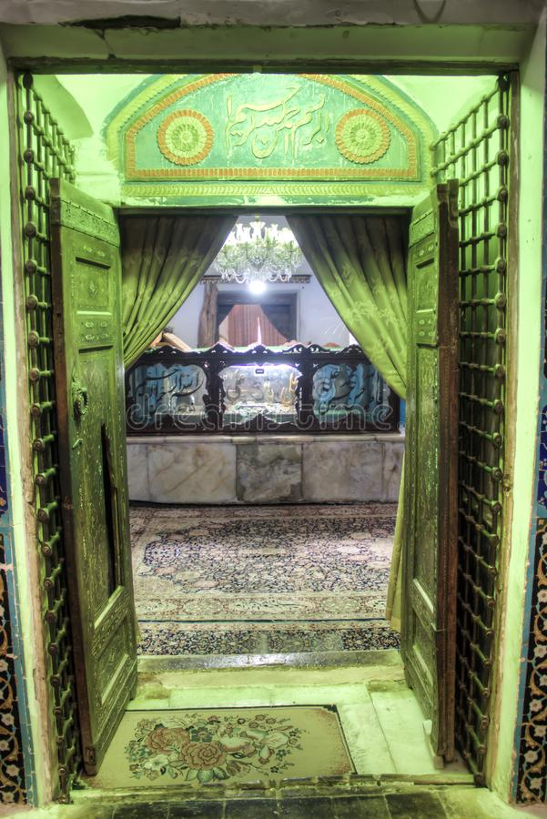 Scià Nematollah Vali Shrine in Mahan, Iran immagine stock