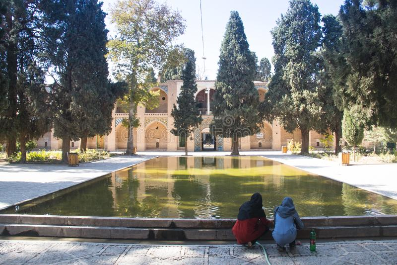 Scià Nematollah Vali Shrine in Mahan, Iran fotografie stock libere da diritti