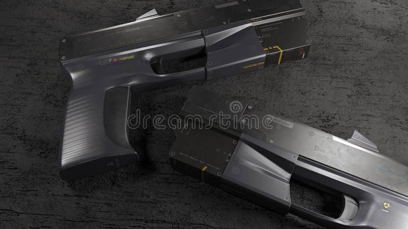 Sci πυροβόλο χεριών FI απεικόνιση αποθεμάτων