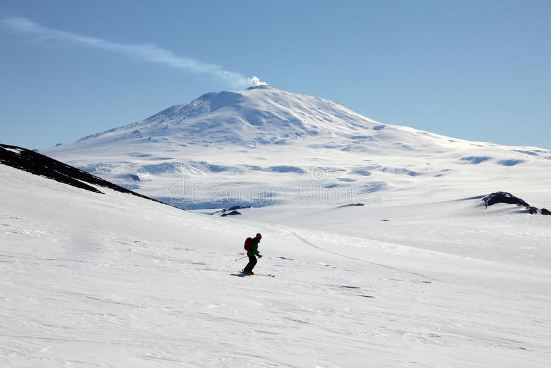 Sci che visita in Antartide immagine stock