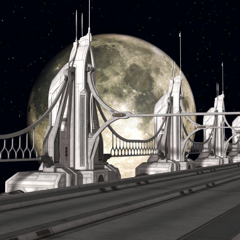 sci FI γεφυρών ανασκόπησης απεικόνιση αποθεμάτων