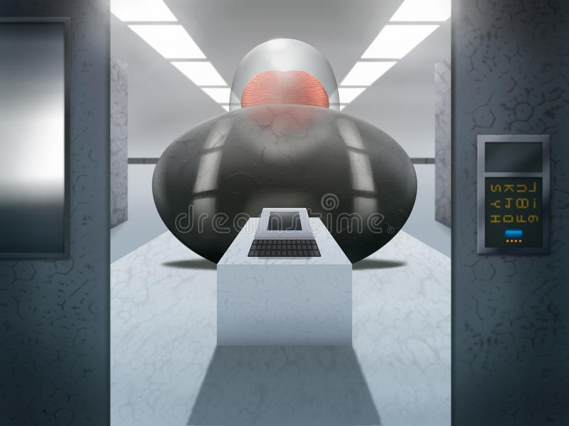 Download Sci-Fi Computer Room - Digital Illustration Stock Illustration - Illustration of digital, alien: 22223328
