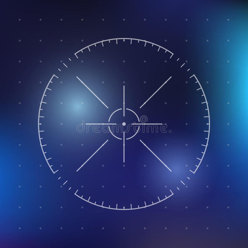 Sci-fi futuristic crosshair. For user interface. Techno target screen elements. Hightech screen concept. Vector illustration royalty free illustration