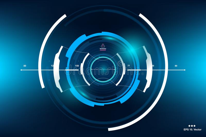 Sci-Fi Futuristic HUD Dashboard Display. Vitrual Reality Technology Screen royalty free illustration