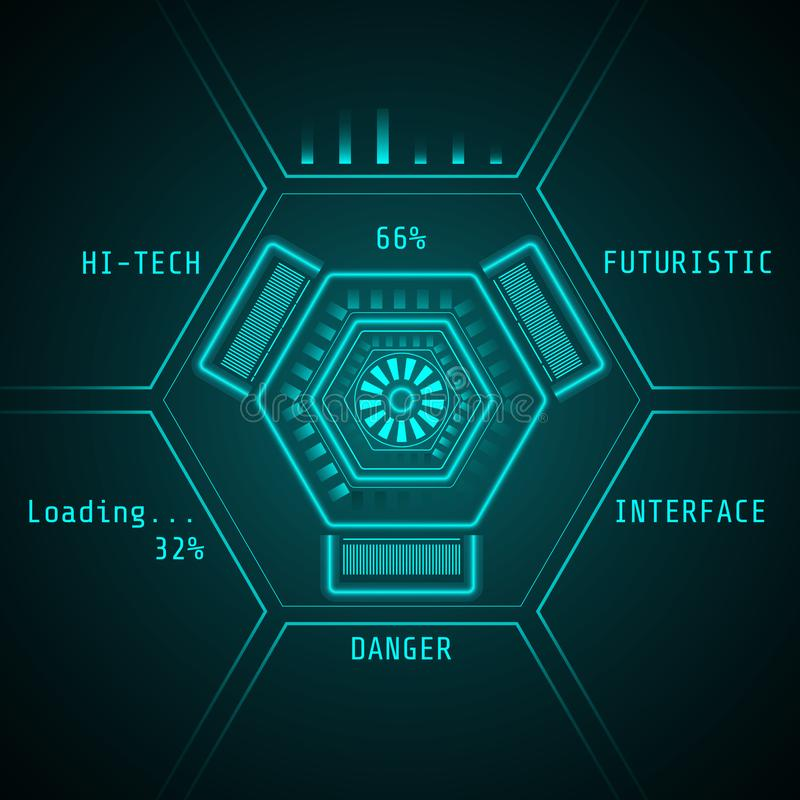 Sci fi futuristic user interface. Hi-tech background. Abstract technology vector illustration. vector illustration