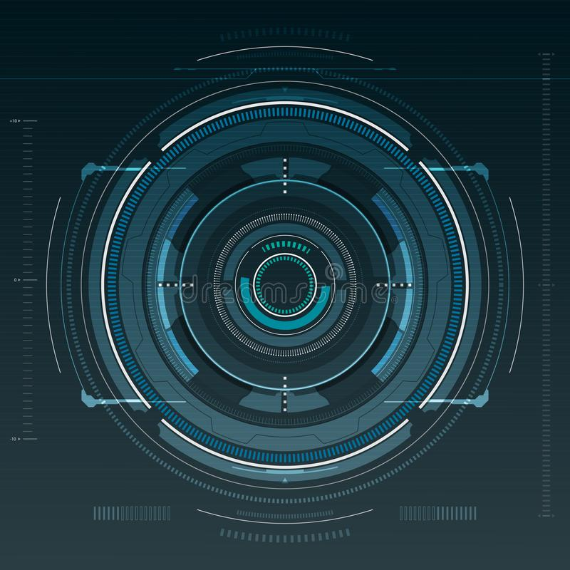 Sci fi futuristic user interface. Vector illustration royalty free illustration