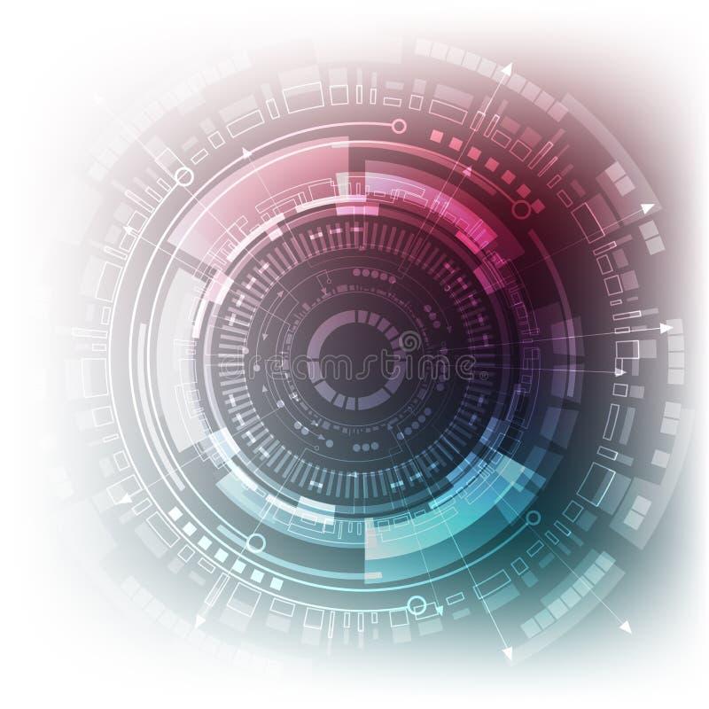 Sci fi futuristisk bakgrund också vektor för coreldrawillustration royaltyfri illustrationer