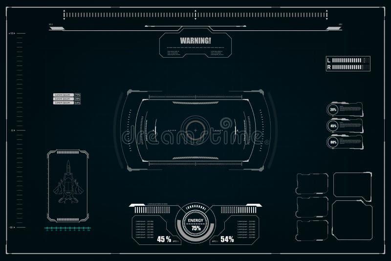 Sci fi futurystyczny interfejs u?ytkownika r?wnie? zwr?ci? corel ilustracji wektora ilustracja wektor