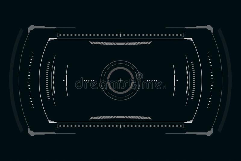 Sci fi futurystyczny interfejs u?ytkownika r?wnie? zwr?ci? corel ilustracji wektora royalty ilustracja