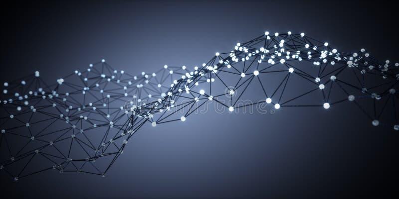Lightning molecules - 3d structure visualization royalty free illustration