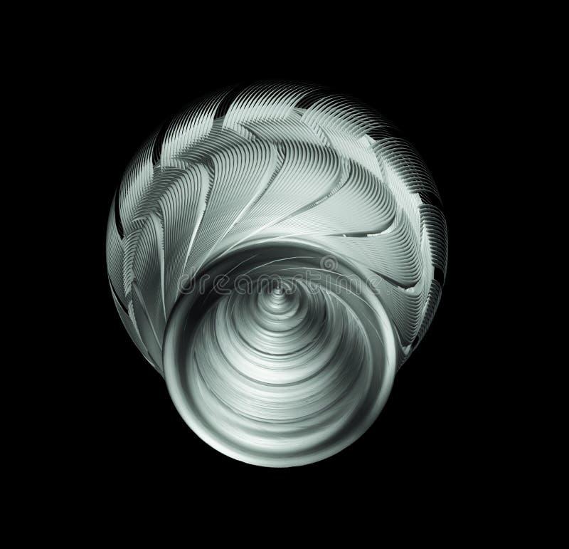 Sci-Fi Industrial Element Isolated On Black Background, Futuristic Concept. Design stock illustration