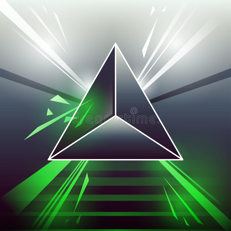 Sci-fi laser triangle green royalty free illustration