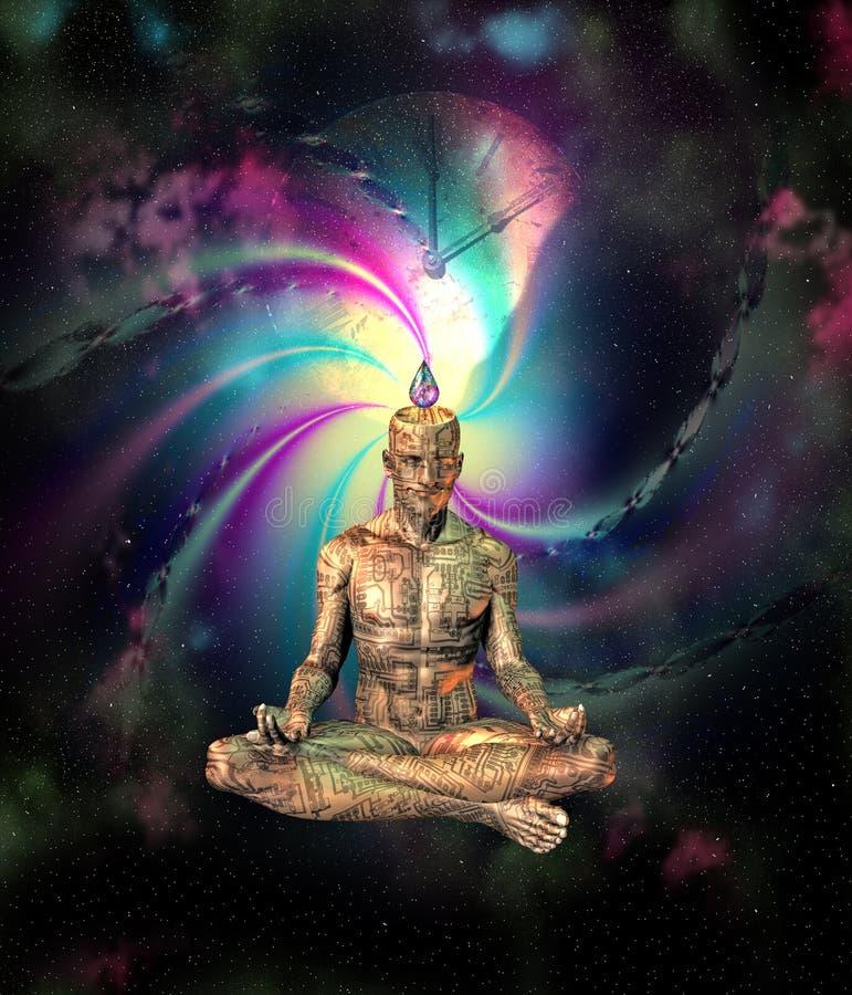 Download Sci Fi Meditation stock illustration. Image of concept - 15611772