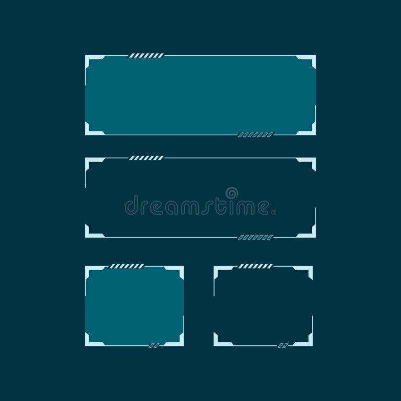 Sci Fi modern futuristisk HUD användargränssnitt Abstrakt begrepp för technovektorillustration stock illustrationer