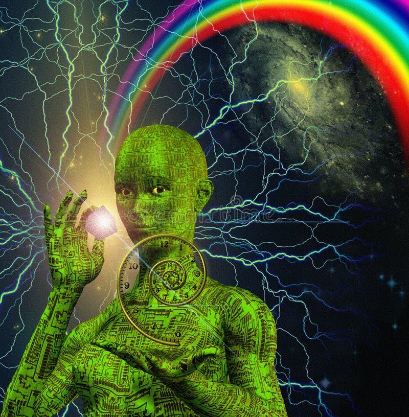 Cyborg Woman vector illustration