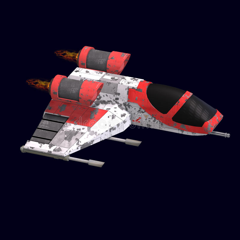 Download Sci Fi Spaceship In Universe Stock Illustration - Illustration of object, star: 11002607
