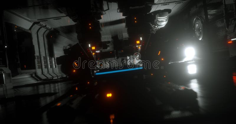 Sci-Fi spacesship 27 ελεύθερη απεικόνιση δικαιώματος