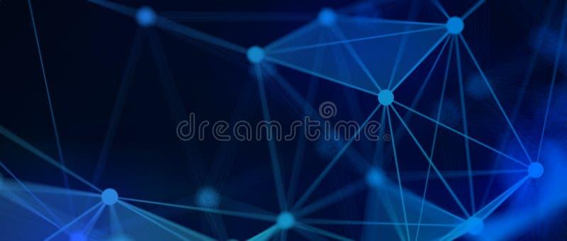 Sci Fi techniki Plexus tło royalty ilustracja