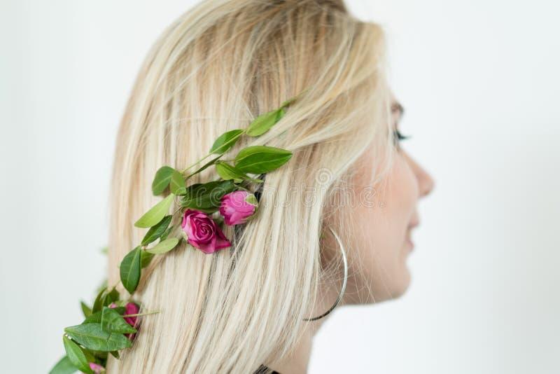 Sciampo di erbe organico dei cosmetici naturali dei capelli fotografie stock libere da diritti